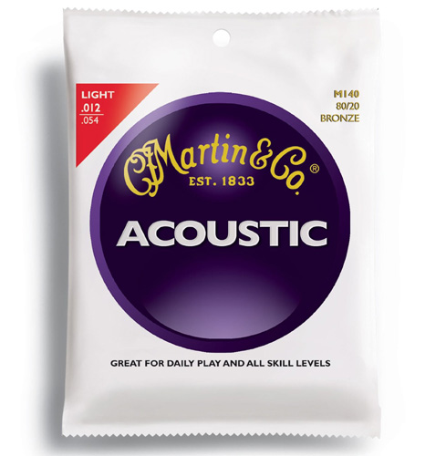 #5. Martin M140 Bronze Acoustic Guitar Strings, Light
