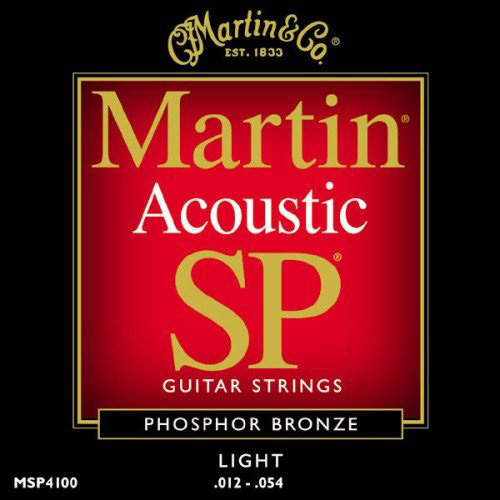#9. Martin MSP4100 SP Phosphor Bronze Acoustic Guitar Strings, Light 3 Pack