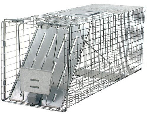 #2. Woodstream 1079 32-Inch Live Animal Cage Trap