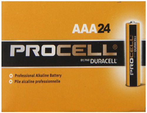 #3. AAA 24 Pack Duracell Procell PC2400BKD09