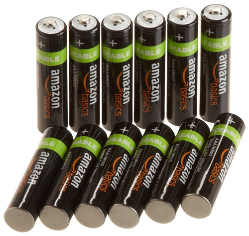 #2. AAA Rechargeable Amazon Basics Batteries