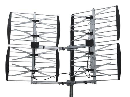 #4. Dual Quad Bay Outdoor HDTV/DTV/UHF Bowtie Television Antenna By Stellar Labs