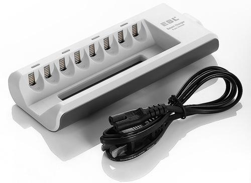 #1. EBL 8 Bay AA,AAA, Ni-MH, Ni-Cd Rechargeable Battery Charger