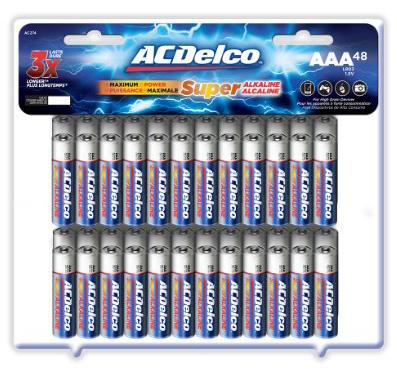 #4. Super Alkaline ACDelco AAA Batteries