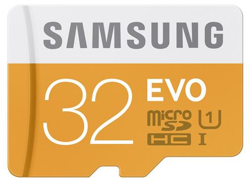 #1. Samsung 32GB EVO Class 10