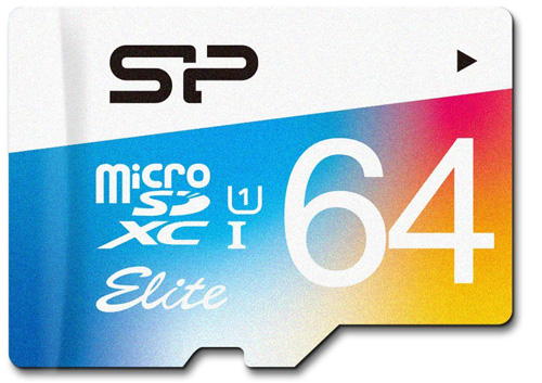 #4. Silicon Power 64GB up to 85MB/s MicroSDXC UHS-1 Class10, Elite Flash Memory Card with Adaptor