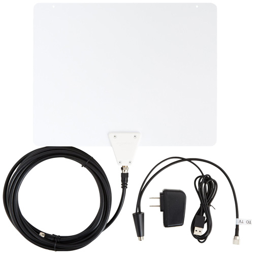 #3. AmazonBasics Ultra Thin Indoor TV Antenna