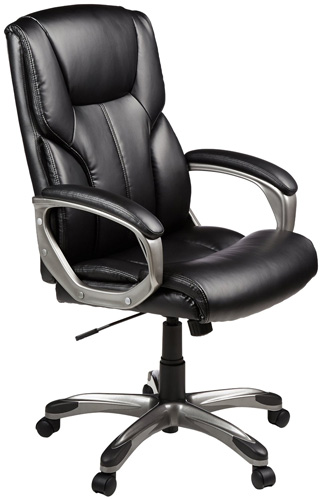 #2. AmazonBasics High-Back Executive Chair