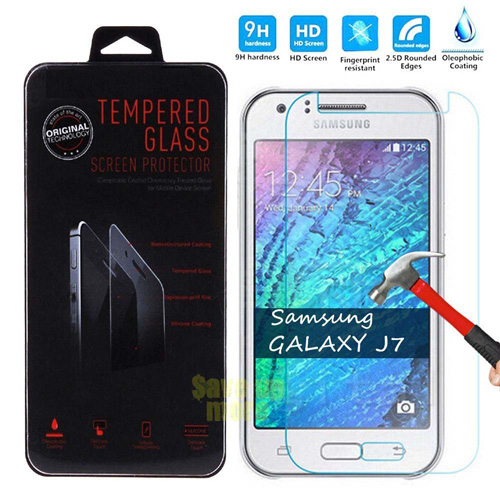 #3. Galaxy J7 Tempered Glass Screen Protector, Galaxy J7 Ballistic Nano Tempered Glass Film