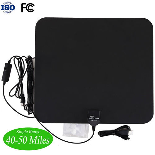 #2. Sinsun Flat Amplified HDTV Antenna