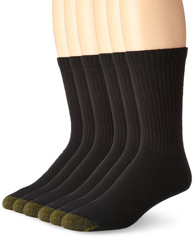 #2. Gold Toe Men's Cotton Crew Athletic Sock 6-Pack