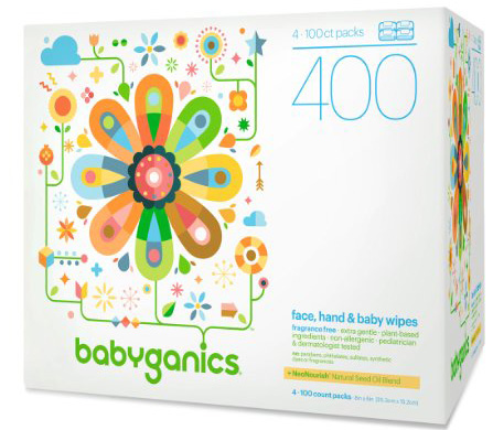 #5. Babyganics Face, Hand & Baby Wipes