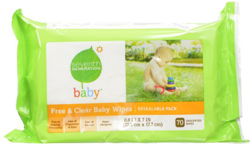 #3. Seventh Generation Original Soft and Gentle Free and Clear Baby Wipes