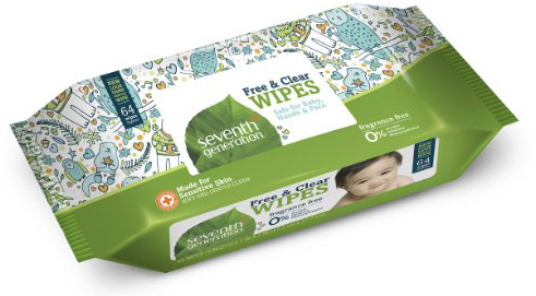 #2. Seventh Generation Thick & soft Free and Clear Baby Wipes