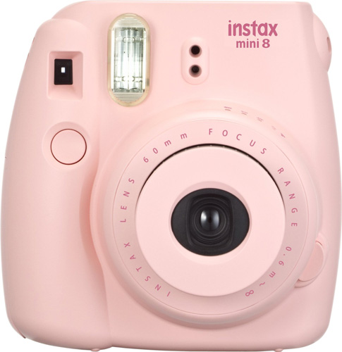 #1. Fujifilm Instax Mini 8 Instant Film Camera (Pink)