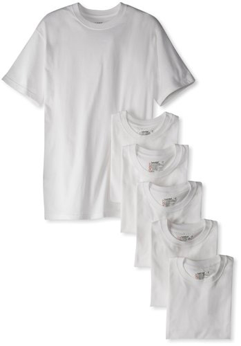 #3. Hanes Men's Classics 6 Pack Crew Neck Tee