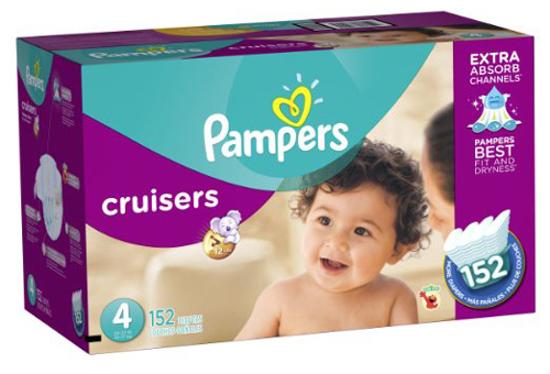 #4. Pampers Cruisers Diapers Economy Plus Pack, Size 4, 152 Count