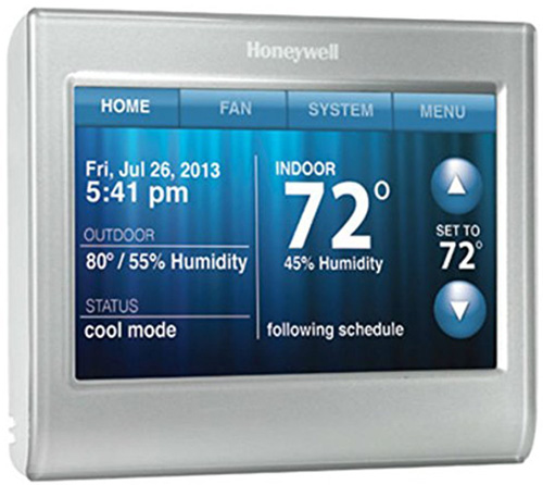 #2. Honeywell RTH9580WF WiFi 9000 Color Touchscreen Thermostat, 8.06 sq.inch Premier Silver