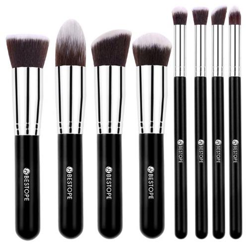 #3. BESTOPE Makeup Brushes Premium Cosmetics Brush Set Synthetic Kabuki Makeup Brush