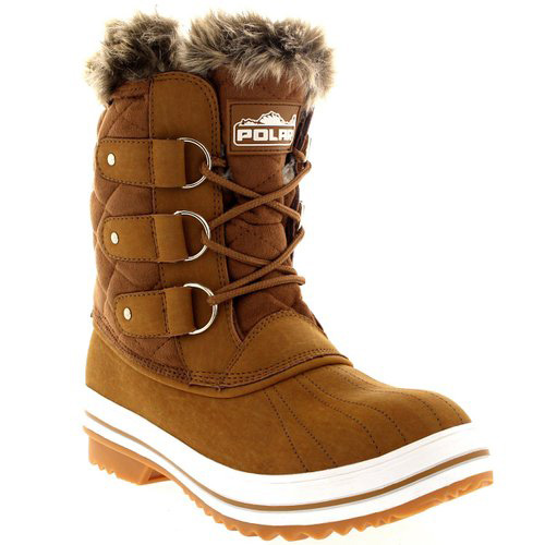 #3. Womens Snow Boot Nylon Short Winter Snow Fur Rain Warm Waterproof Boots