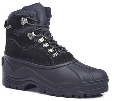 #1. Kingshow Men's Waterproof Leather Duck Boots Snow Winter