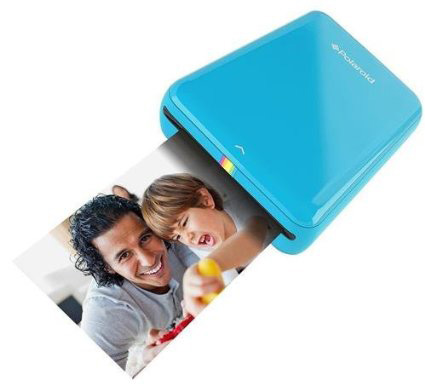 #2. Polaroid ZIP Mobile Printer w/ZINK Zero Ink Printing Technology -Blue