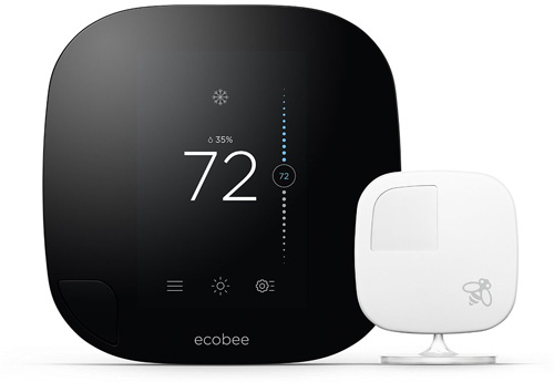 #3. Ecobee3 Smart WiFi Thermostat With Remote Sensor, 2nd Generation, Works With Alexa