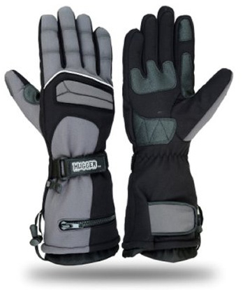 #2. Hugger Glove Company Men's Textile Gauntlet Snowmobile Gloves