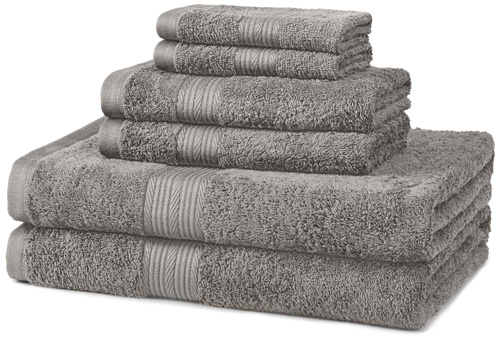 1. AmazonBasics Fade-Resistant Cotton 6-Piece Towel Set