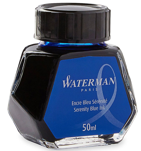 1. Waterman Fountain Pen Ink, Serenity Blue