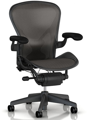 #1.Aeron Task Chair by Herman Miller