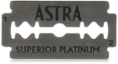 #2. Astra Platinum Edge Safety Razor Blades