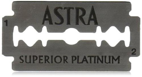 #2. Astra Platinum Edge Safety Razor Blades