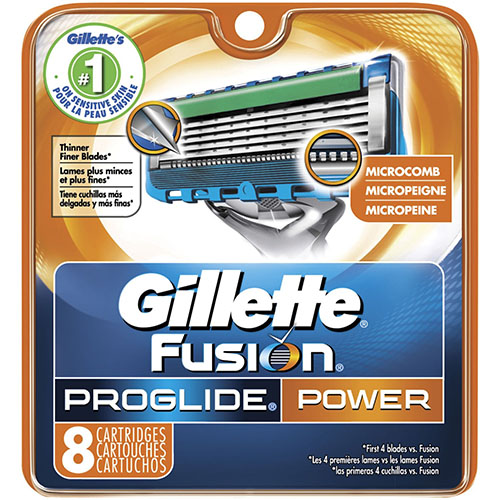 1. Gillette Fusion Power Men's Razor Blade
