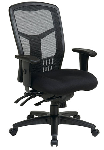 5. Office Star High Back Black Managers Chair