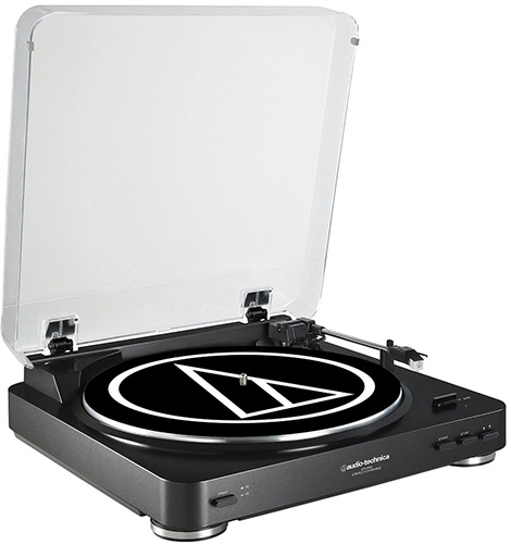 2. Audio Technica AT-LP60BK Fully Auto Belt-Drive Stereo Turntable