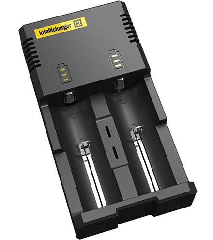 2. Nitecore i2 Intellicharge Charger for 18650 AAA AA Li-Ion/NiMH Battery