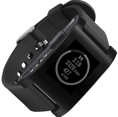 2. Pebble Smartwatch Black