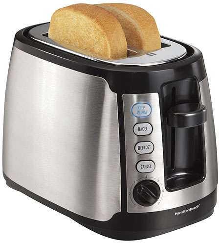 2. Hamilton Beach Warm 2-Slice Toaster