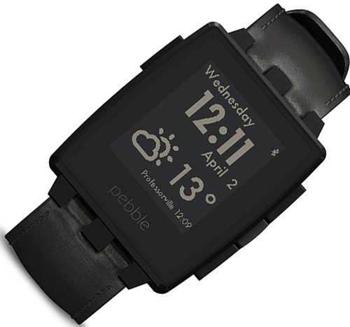 3. Pebble Smartwatch Black Matte