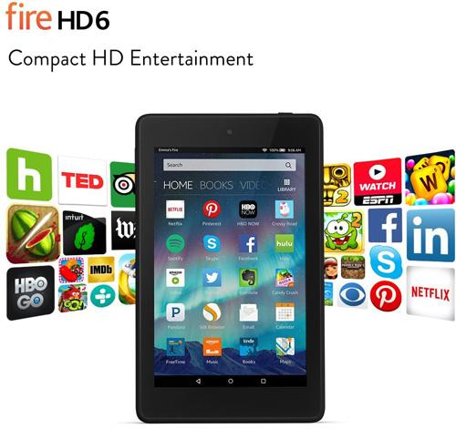 4. Fire HD 6 Tablet, Wi-Fi