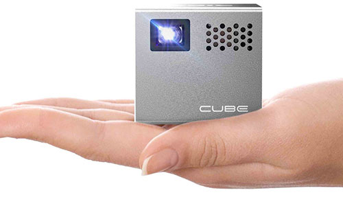 1. RIF6 Cube 2-inch Mobile Projector