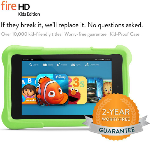 3. Fire HD 6 Kids Edition Tablet