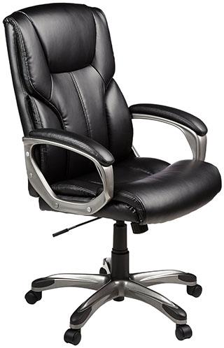 1. AmazonBasics Executive Chair - Black