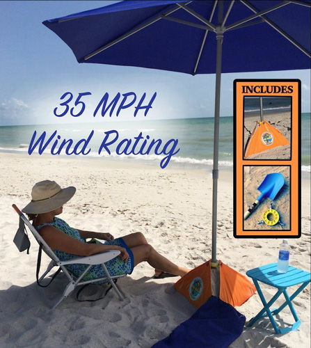 #5. All-In-One Beach Umbrella System