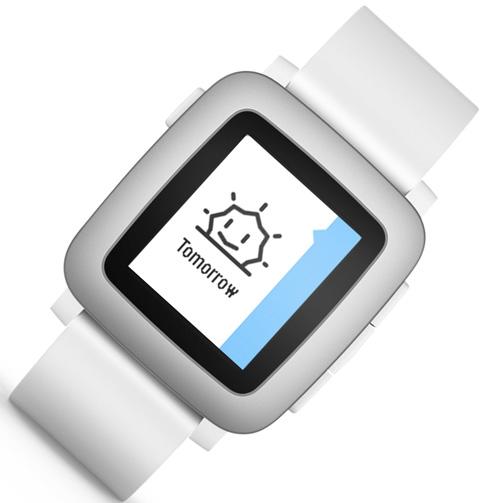 4. Pebble Time Smartwatch White
