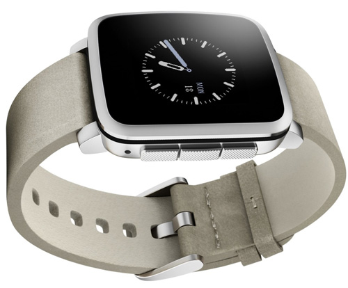 1. Pebble Time Steel Smartwatch for Apple