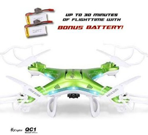 4. QCopter QC1 Quadcopter Drones with HD Camera