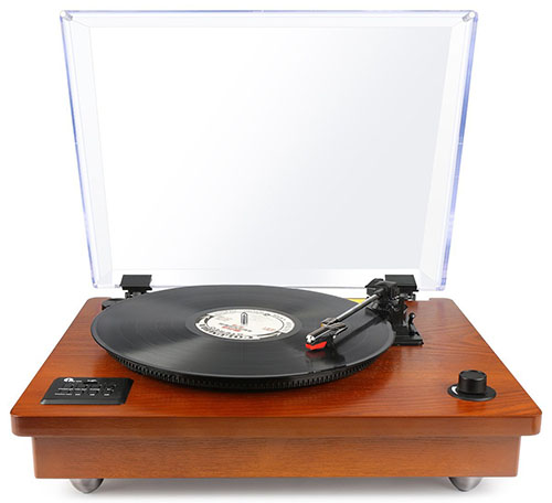#4. 1Byone Bluetooth Turntable with in-built Stereo Speakers and Vinyl to MP3 Recording