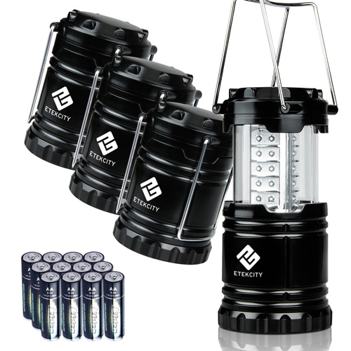 #1. 4 Pack Portable LED Camping Lantern